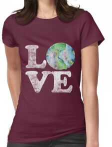 LOVE earth day Womens Fitted T-Shirt