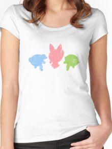 Retro Powerpuff Girls Women's Fitted Scoop T-Shirt