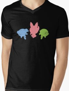 Retro Powerpuff Girls Mens V-Neck T-Shirt