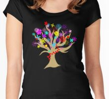 Flowering Tree Women's Fitted Scoop T-Shirt