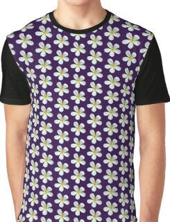 Frangipani - White and Yellow Graphic T-Shirt