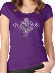 Vintage Lilac Rose Women's Fitted Scoop T-Shirt