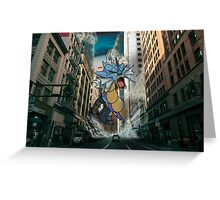 Gyarados San Franciso Invasion Greeting Card