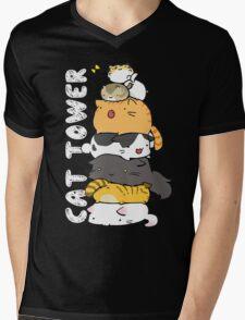 Cat Tower Mens V-Neck T-Shirt