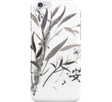 Bamboo Garden With Tranquility Symbol iPhone Case/Skin