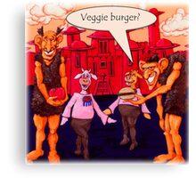 Giants Like Veggie Burgers Canvas Print