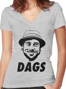 The Snatch Micky DAGS Women's Fitted V-Neck T-Shirt