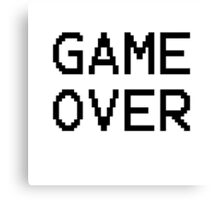 Game Over - Gamer Text Canvas Print