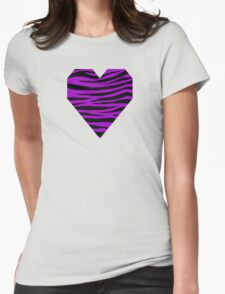 0555 Purple (Munsell) Tiger Womens Fitted T-Shirt