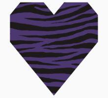 0556 Purple Heart Tiger One Piece - Short Sleeve