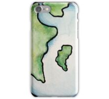 Earth watercolor art for earth day iPhone Case/Skin