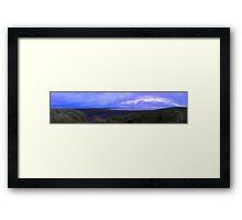 Sun setting from Beach Framed Print
