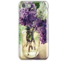 Lilac in Mason Jar iPhone Case/Skin