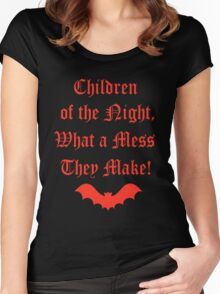 Dracula Dead and Loving It: Children of The Night Women's Fitted Scoop T-Shirt