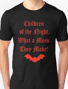 Dracula Dead and Loving It: Children of The Night T-Shirt