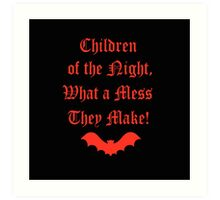 Dracula Dead and Loving It: Children of The Night Art Print