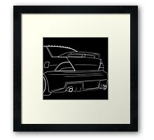 evo outline - white Framed Print