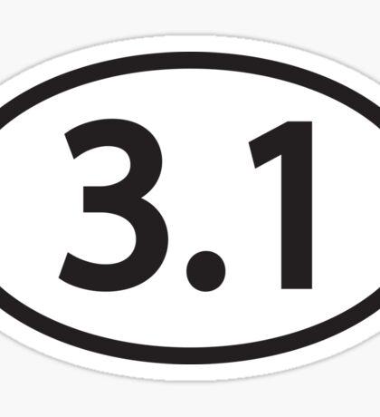3.1 5K Running Sticker