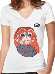 Hoo Women's Fitted V-Neck T-Shirt