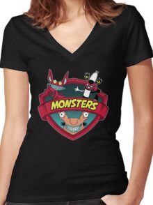 Monsters Women's Fitted V-Neck T-Shirt