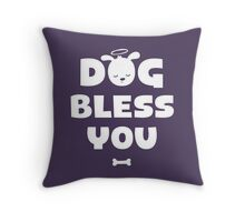 Dog Bless You, Amen! Throw Pillow