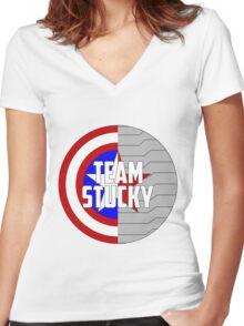 Team Stucky Women's Fitted V-Neck T-Shirt