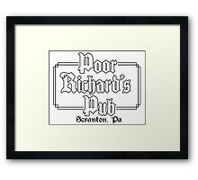 Poor Richard's Pub Framed Print