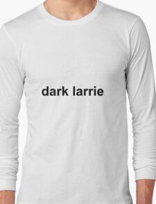 Dark Larrie WHITE/BLACK Long Sleeve T-Shirt