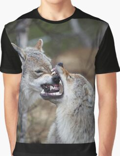 Wolf Play Time Graphic T-Shirt
