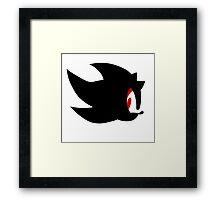 Shadow the hedgehog silhouette  Framed Print