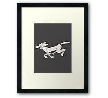 Running Dog Framed Print