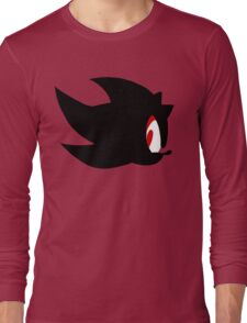 Shadow the hedgehog silhouette  Long Sleeve T-Shirt