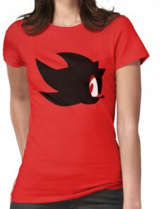Shadow the hedgehog silhouette  Womens Fitted T-Shirt