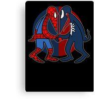 Spider vs Symbiote Canvas Print