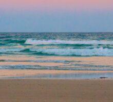Beach at Sunset Sticker