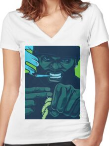 Killer Mike Run the Jewels Women's Fitted V-Neck T-Shirt