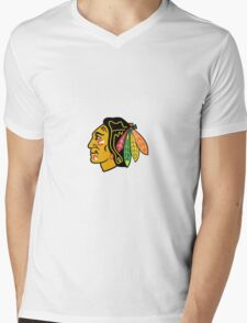 ChicagoBlackhawksLogo.svg Mens V-Neck T-Shirt