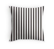 thin black white stripe Throw Pillow