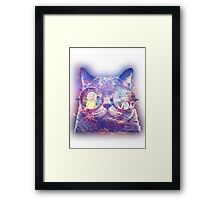 Rick and Morty Galaxy Cat Framed Print