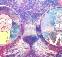 Rick and Morty Galaxy Cat Sticker