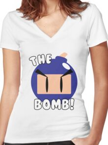 The Bomb! Women's Fitted V-Neck T-Shirt