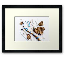 Butterflies and Raindrops Framed Print