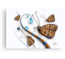 Butterflies and Raindrops Canvas Print