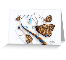 Butterflies and Raindrops Greeting Card