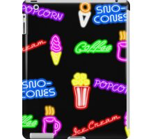 Dean's Neon Food Signs at Night iPad Case/Skin