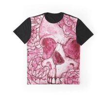 Blossoms and Skulls Graphic T-Shirt