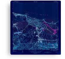 USGS TOPO Map Puerto Rico PR San Juan 362582 1941 30000 Inverted Canvas Print