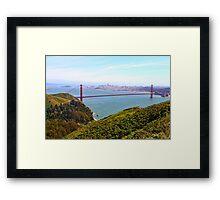 Golden Gate Bridge Marin Headlands Framed Print
