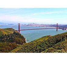 Golden Gate Bridge Marin Headlands Photographic Print