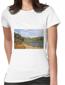 Sheep Lake in the Fall Womens Fitted T-Shirt